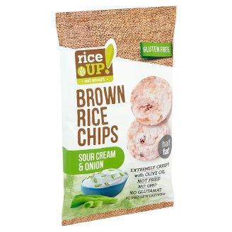 RiceUp! Eat Smart teljes kiőrlésű barna rizs chips hagymás-tejfölös ízesítéssel 60 g