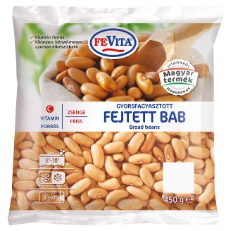 FeVita gyorsfagyasztott zsenge friss fejtett bab 450 g