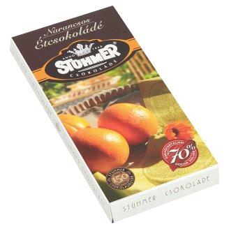 Stühmer Dark Chocolate with Candied Orange Peel 100 g