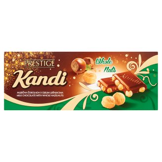 Kandit Milk Chocolate with Whole Hazelnuts 230 g