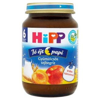 HiPP Jó Éjt Papi BIO gyümölcsös tejbegríz 6 hónapos kortól 190 g