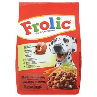 Frolic Complete Food for Adult Dogs with Beef, Vegetables and Cereals 2 kg