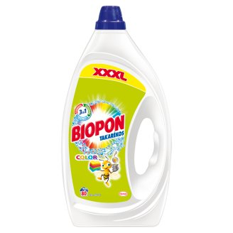 Biopon Takarékos Color Liquid Detergent for Colourful Clothes 80 Washes 4 l