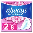 Always Sensitive Long Ultra Sanitary Towels With Wings 8x
