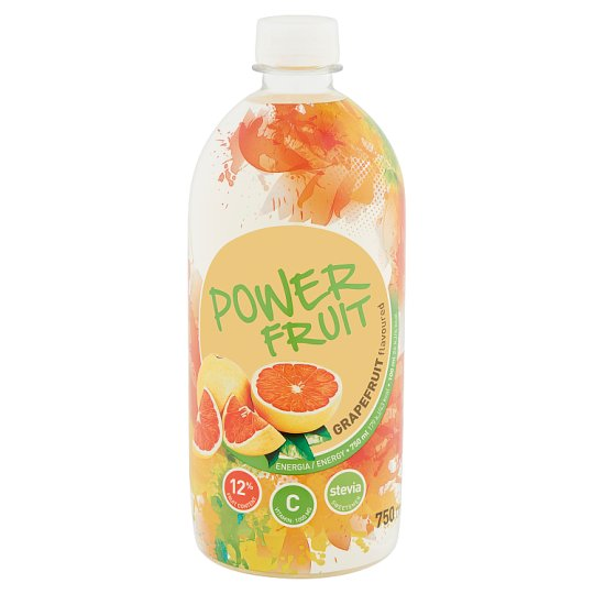 Power Fruit grapefruit ízű, forrásvíz alapú, energiaszegény gyümölcsital édesítőszerekkel 750 ml
