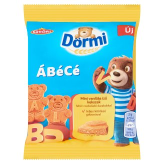 Dörmi ÁBéCé Mini Vanilla Flavoured Cookies with White Chocolate Pieces 25 g