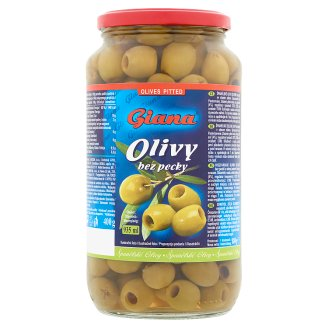 Giana Spanish Green Pitted Olives in Brine 880 g