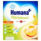 Humana Plus őszibarackízű tejdesszert 6 hónapos kortól 4 x 100 g