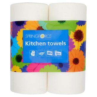 Springforce Kitchen Towels 2 Ply 2 Rolls