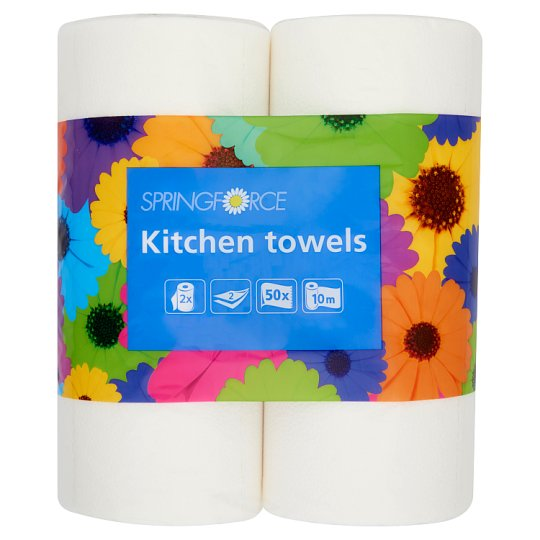 Springforce Kitchen Towels 2 Ply 2 Rolls