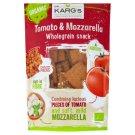 Dr. Karg's BIO paradicsomos-mozzarellás teljes kiőrlésű ropogós kenyér-snack 110 g