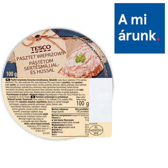 Tesco Pate with Pork Liver and Meat 100 g