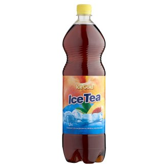 Ice Gold Ice Tea Peach Flavoured Energy-Free Soft Drink with Sweeteners 1,5 l