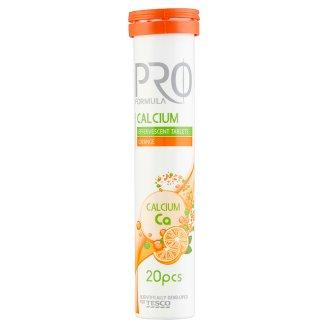 Tesco Pro Formula Calcium narancsízű étrend-kiegészítő pezsgőtabletta 20 db 80 g
