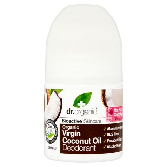 Dr. Organic Bioactive Skincare Aluminium-Free Roll-On Deodorant with Organic Coconut Oil 50 ml