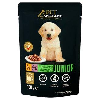 Tesco Pet Specialist Premium teljes értékű állateledel kölyökkutyáknak csirkével és pulykával 100 g