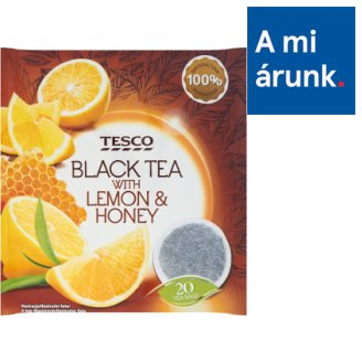 Tesco Black Teas and Fruit Tea Mix with Honey-Lemon Flavour 20 Tea Bags 40 g