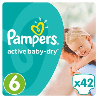 Pampers Active Baby-Dry Size 6 (Extra Large) 15+Kg, 42 nappies