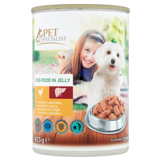 Tesco Pet Specialist Complete Dog Food in Jelly with Poultry and Liver 415 g