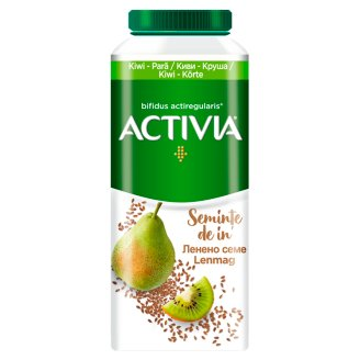 Danone Activia Low-Fat Kiwi-Pear Flavoured Yoghurt Drink with Live Cultures and Lentil & Grain 320 g