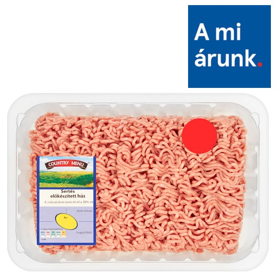 Country Menu Minced Pork with 30% Fat Content 1000 g