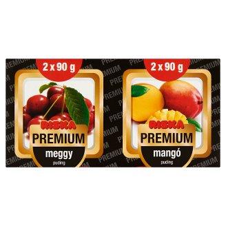 Riska Premium meggy puding és mangó puding 4 x 90 g