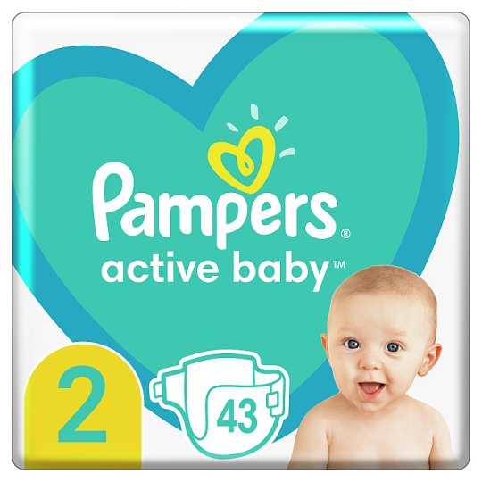 Pampers Diapers Size 2, 43 Nappies, 4-8kg