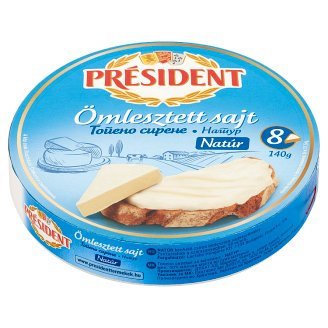 Président Unflavoured Fat Cheese Spread 8 pcs 140 g
