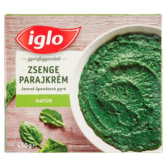 Iglo Quick-Frozen Unflavoured Young Spinach Cream 450 g