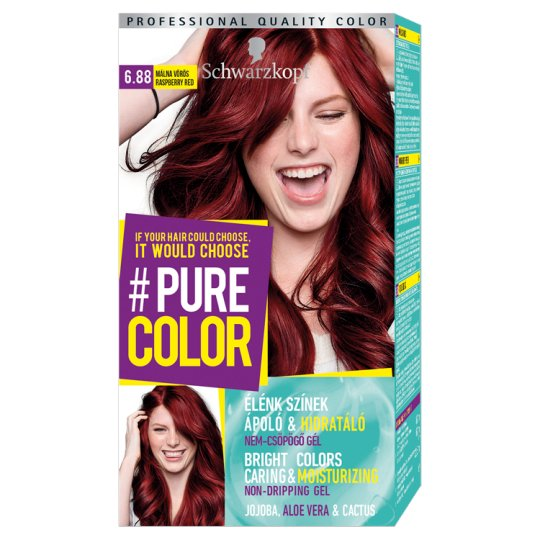 Schwarzkopf #Pure Color Permanent Hair Colorant 6.88 Raspberry Red