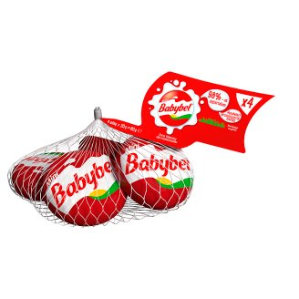 Mini Babybel Fat Semi-Hard Cheese in Wax Coating 4 pcs 80 g