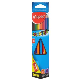 Maped Color' Peps színes ceruzák ceruzahegyezővel 12 db