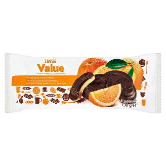 Tesco Value Sponge Biscuit with Orange Flavoured Jelly 130 g