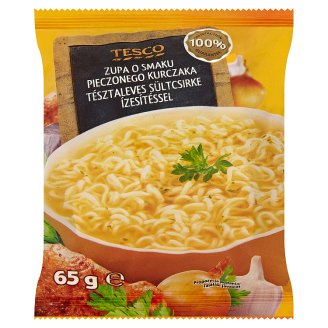 Tesco Baked Chicken Flavoured Noodle Soup 65 g