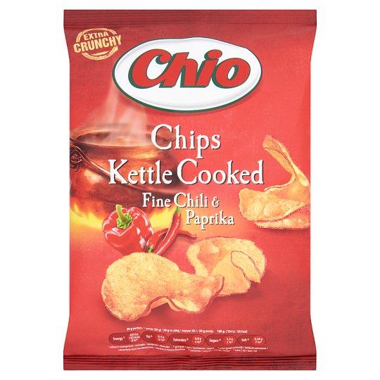 Chio Kettle Cooked chili és paprika ízesítésű héjas burgonyachips 80 g