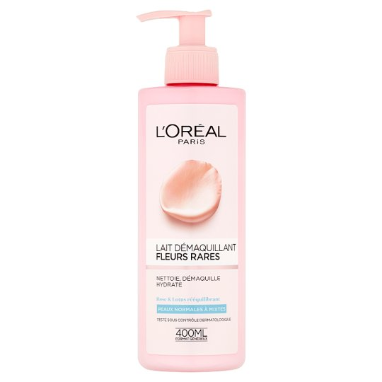 L'Oréal Paris Make-Up Remover Milk with Power of Rare Flowers for Normal to Combination Skin 400 ml