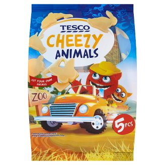 Tesco Cheezy Animals Sliced Fat Semi-Hard Gouda Cheese 5 x 20 g