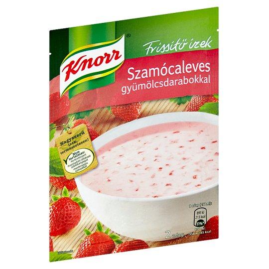 Knorr Frissítő ízek szamócaleves gyümölcsdarabokkal 45 g