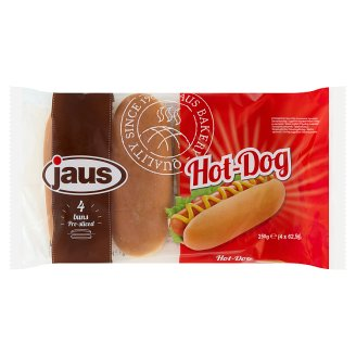 Jaus hot-dog kifli 4 db 250 g