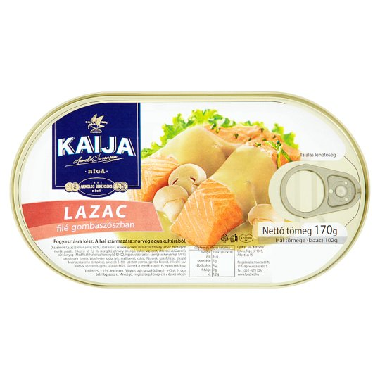 Kaija lazacfilé gombaszószban 170 g