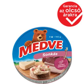Medve Spreadable Processed Semi-Fat Cheese with Ham 8 pcs 140 g