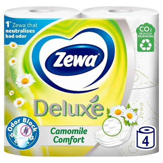 Zewa Deluxe Camomile Comfort Toilet Paper 3 Ply 4 Rolls
