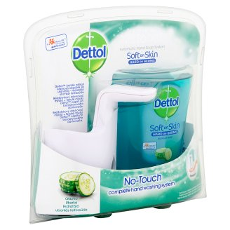 Dettol Hydrating Cucumber No-Touch Complete Hand Washing System and Refill 250 ml