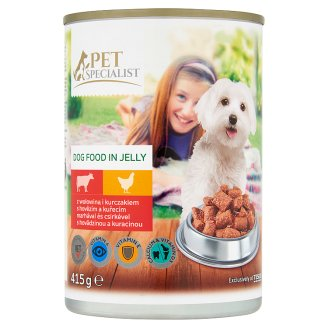 Tesco Pet Specialist Complete Dog Food in Jelly with Beef and Chicken 415 g