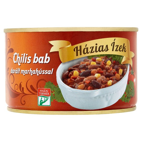 Házias Ízek Chili Bean with Minced Beef 400 g
