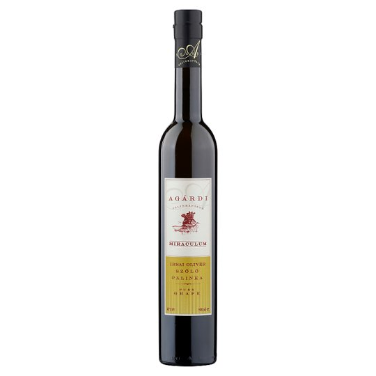 Agárdi Miraculum Irsai Olivér Pure Grape Palinka 40% 500 ml