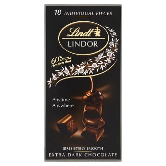 Lindt Lindor Swiss Extra Dark Chocolate with a Smooth Filling 100 g