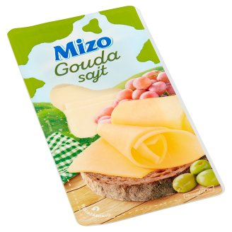 Mizo zsíros, félkemény, szeletelt gouda sajt 125 g