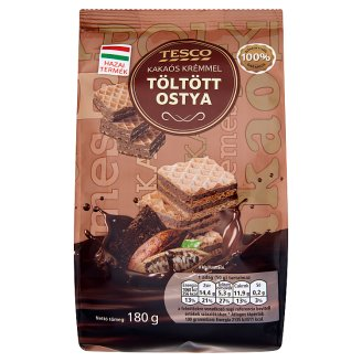 Tesco Cocoa Cream Filled Wafer 180 g
