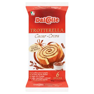 Dal Colle Baked Confectionery Product with Far-Reduced Cocoa Filling and Coating 6 pcs 192 g
